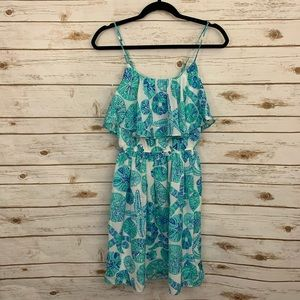 Lilly Pulitzer Target Blue White Ruffle Dress